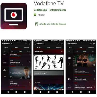 Aplicación Vodafone TV