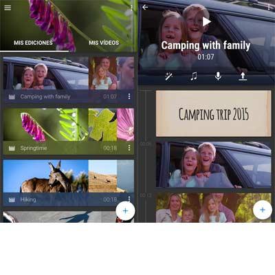 Aplicación WeVideo
