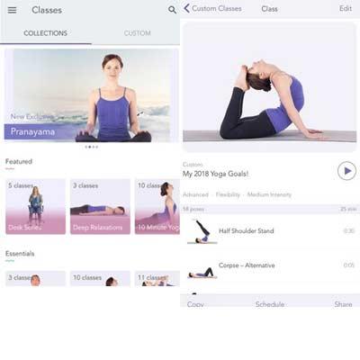 Aplicación Yoga Studio