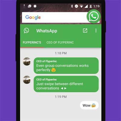 App Flychat para tener varias conversaciones al mismo tiempo